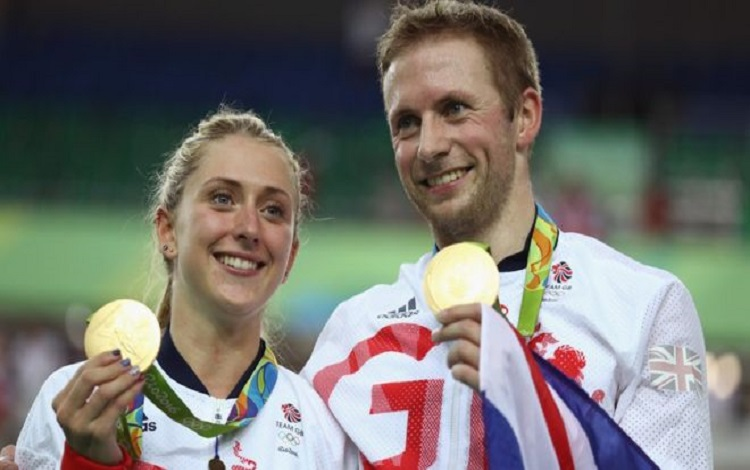 Laura Trott y Jason Kenny
