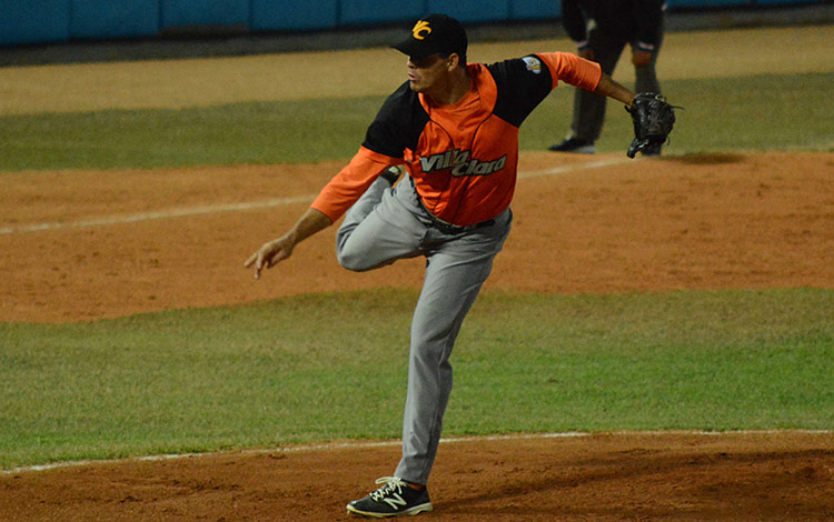 Pitcher Yosvani Torres.