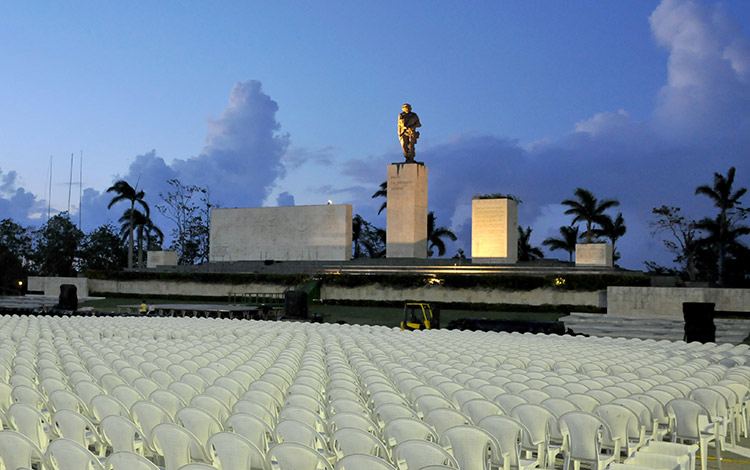Ernesto Che Guevara Memorial is almost ready for homage to the heroic guerrilla. Photo: Vanguardia newspaper.